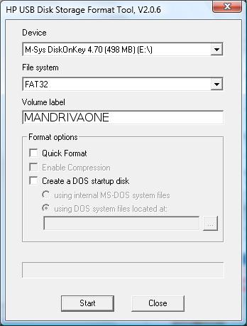 Как форматировать флешку под Мандриву